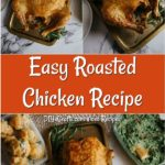 Easy roasted rosemary chicken recipe baked and ready to serve
