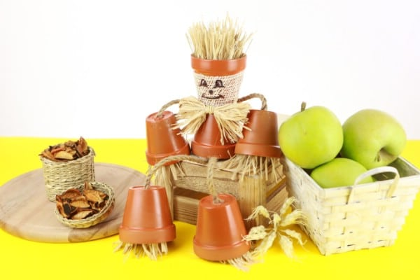 DIY Adorable Flower Pot People Scarecrow Craft