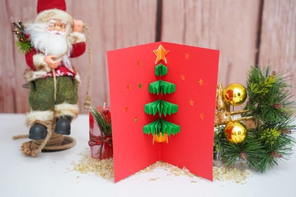 Festive 3D Christmas Tree Cards