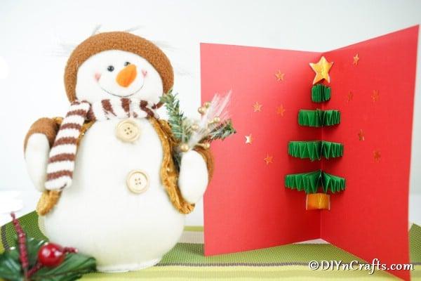 Easy Festive 3D Christmas Tree Card