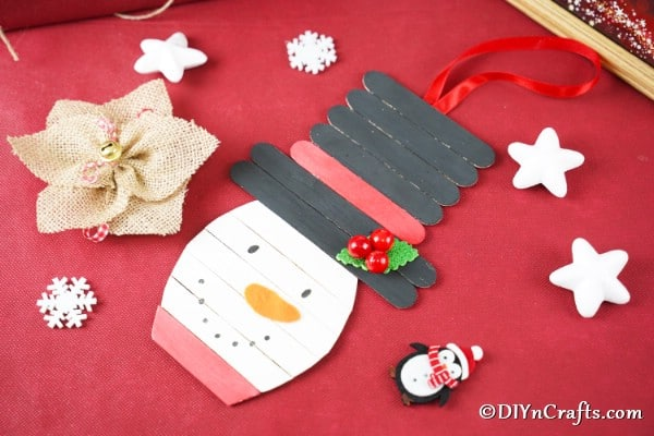 Cute DIY Popsicle Stick Snowman Craft