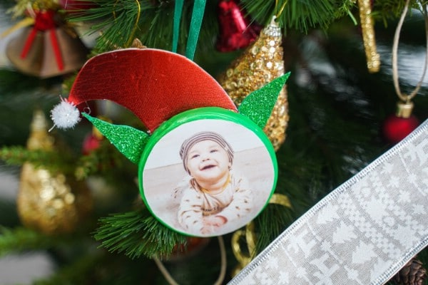 Charmingly Adorable Elf Photo Ornaments