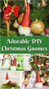 A beautiful collage of how to make a Santa Christmas gnome ornament