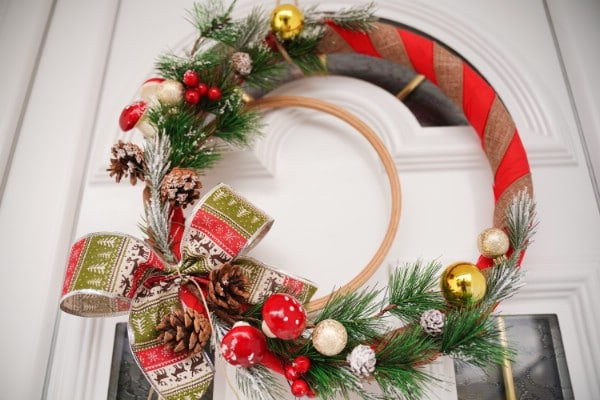Festive Rustic DIY Christmas Wreath
