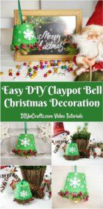 DIY Christmas bell decoration displayed in various ways