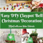DIY Christmas bell decoration displayed in various ways