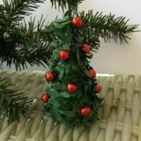 Mini Christmas tree to add to a centerpiece