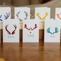 Reindeer Christmas Cards - pack of ten