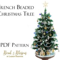 French Beaded Christmas Tree from Christmas Collection by Lauren Harpster