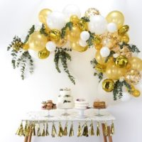 Gold Balloon Arch Kit - Gold & White Party Decorations - Gold Balloon Garland