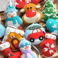 Felt Christmas Ornaments Set of 10 Christmas decoration Christmas ornaments Christmas tree decors