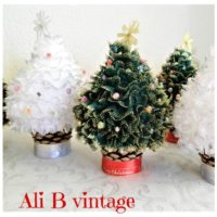 christmas table decoration Christmas tree knitted christmas tree holiday decoration