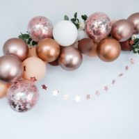 Rose Gold Balloon Arch Kit Garland Birthday Confetti Hen Party Decorations Chrome Copper Blush Wedding