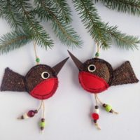Robin Ornament Christmas Robins Christmas Tree Ornaments