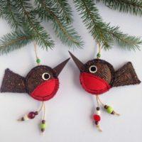 Robin Ornament Christmas Robins Christmas Tree Ornaments