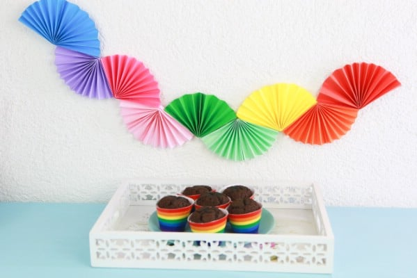 Gorgeous DIY Paper Fan Garland Party Decor
