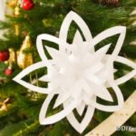3D snowflakes displayed on a tree