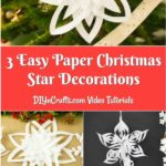 Collage of 3d snowflakes displayed on various areas