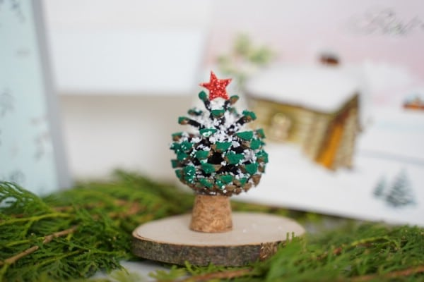 Miniature Pinecone Christmas Tree Decoration or Ornament