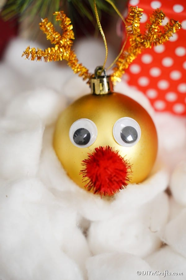 Shiny Rudolph The Red Nosed Reindeer Christmas Ornament