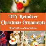 Large collage of displaying reindeer Christmas ornaments