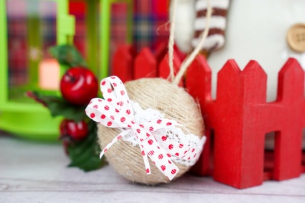 Festive Ribbon and Lace Rustic Christmas Ornaments