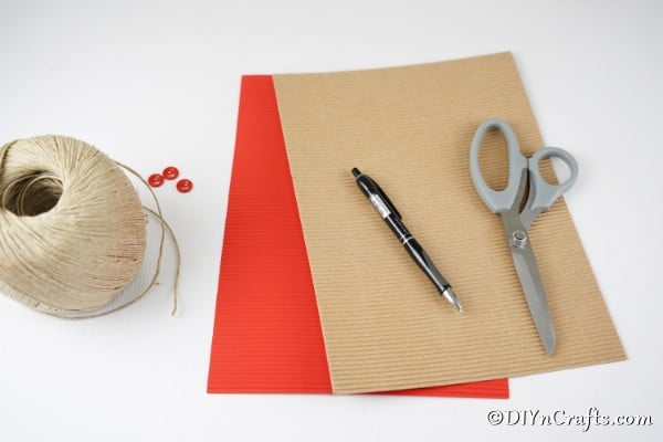 Supplies needed for cardboard star decorations