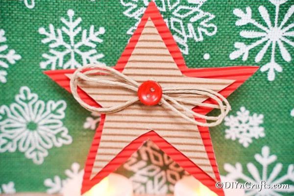 Rustic Cardboard Christmas Star Decorations Diy Crafts