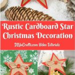 Collage image of a rustic cardboard star decoration