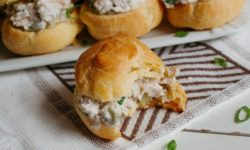 Delicious Chicken Salad in Homemade Puffs