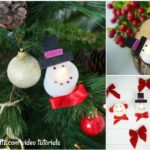 Small collage image of a set of Christmas candles that look like snowman and santa