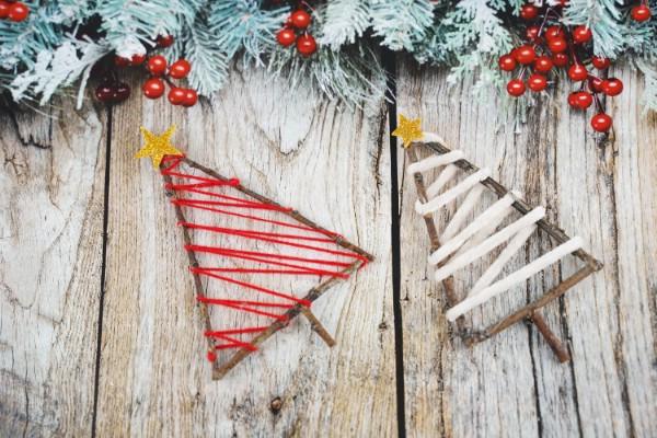Charming Rustic Twig Christmas Tree Ornaments
