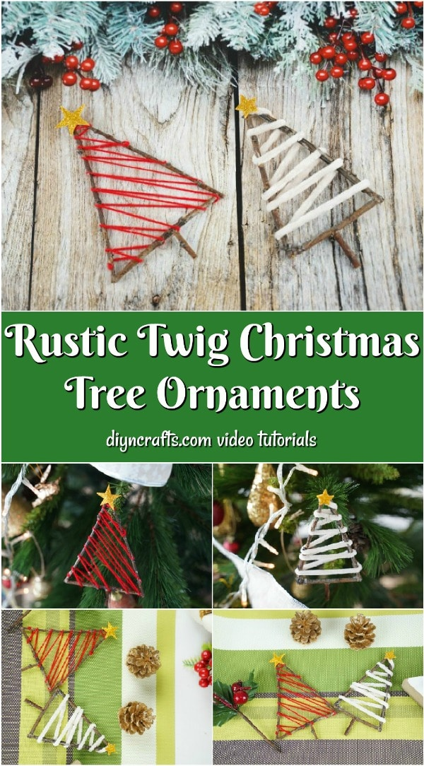 Charming Rustic Twig Christmas Tree Ornaments Diy Crafts