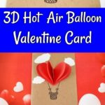 Collage of hot air balloon 3d card images