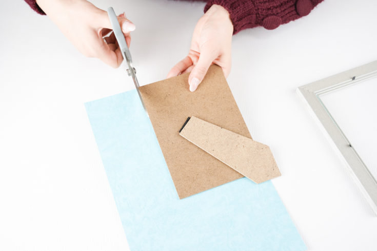 Cutting background paper for frame