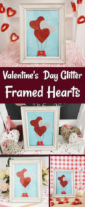 Valentine's Day framed hearts balloons displayed in collage format