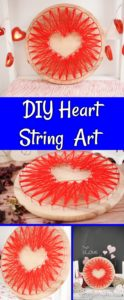 String art heart collage of pictures