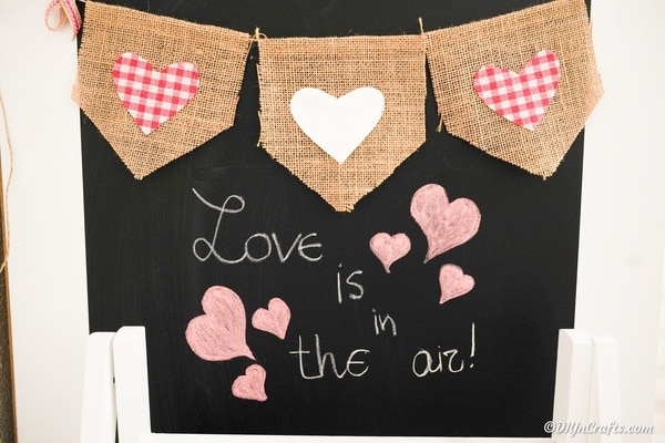 Cute Burlap Heart Valentine's Day Garland