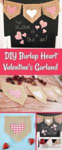 Burlap Valentine garland collage