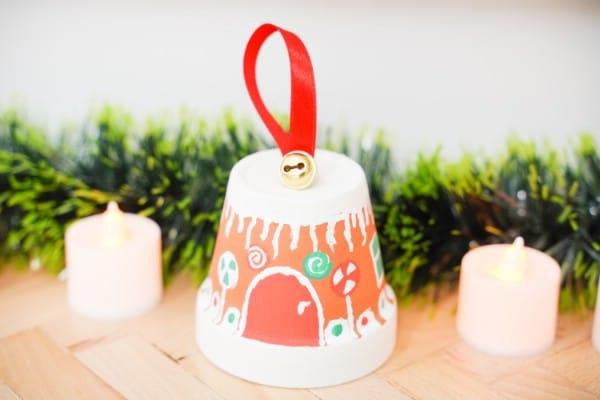 Cute Flower Pot Gingerbread House Winter Craft