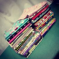 1-2 pound 3-6 yards scrap fat quarter fabric grab bag lucky pack