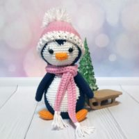 Crochet Penguin Lulu Pattern, DIY Christmas toy decoration