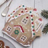 16 Gingerbread House Christmas Napkins