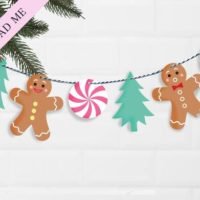 Christmas Gingerbread Men Bunting Printable