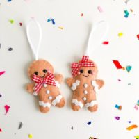 Gingerbread Felt Decoration