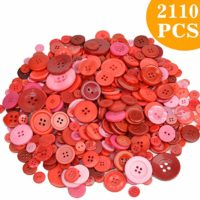Red Buttons in Different Sizes