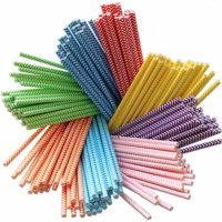 Colored Paper Straws
