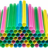 Colored Plastic Straws