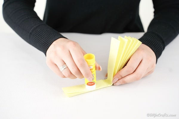 Gluing paper together for fan