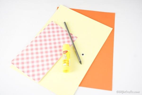 Supplies for paper bird